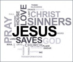 All Sinners Welcome Word Cloud Poem by Laura Russell